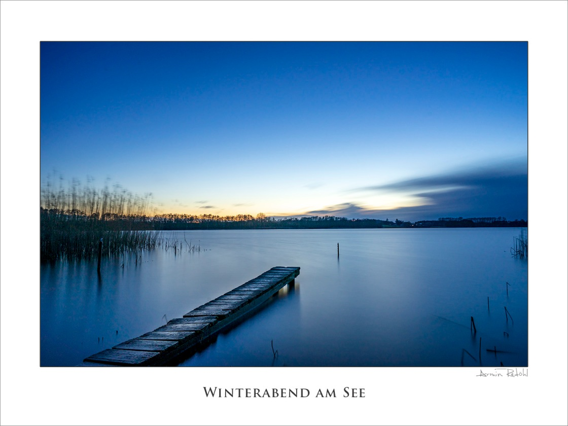 Winterabend am See